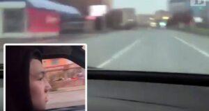 Езда по встречной в прямом эфире (видео)