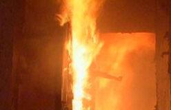 В огне погибла женщина
