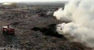 Второй пожар на полигоне