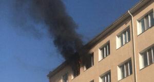 Квартира в огне (видео)