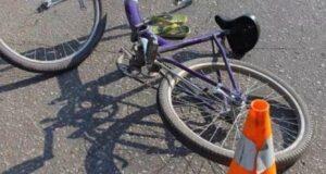 Юный велосипедист пострадал в аварии
