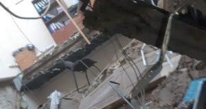 Крыша и верхний этаж «Даму» рухнули